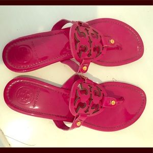 Tory Burch Hot Pink Miller Sandals
